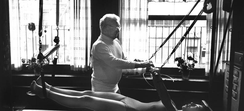 Joseph Pilates at Work in his Studio