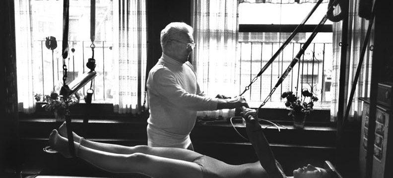 Joseph Pilates at Work in his Studio