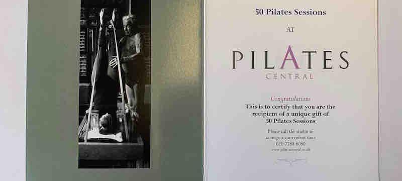 Pilates Classes Gift Voucher